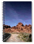 Paint Mixed Valley Of Fire Landscape  Spiral Notebook