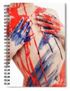 Paint On Woman Body Spiral Notebook