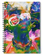 Paint Splash Pinup Art Spiral Notebook