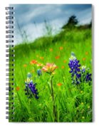 Paintbrush And Bonnets Square Spiral Notebook