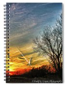 Painted Autumn Sunset Spiral Notebook