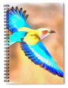 Painted Birds In Skyline Spiral Notebook