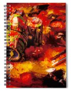 Painted Camera Spiral Notebook