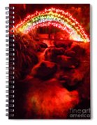 Painted Christmas Waterfall Spiral Notebook