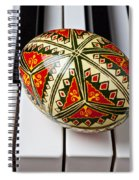 Painted Easter Egg On Piano Keys Spiral Notebook