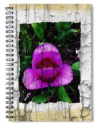 Painted Flower With Peeling Effect Spiral Notebook