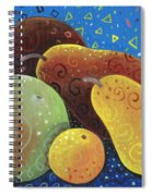 Painted Fruit Spiral Notebook