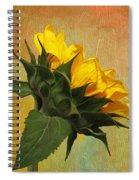 Painted Golden Beauty Spiral Notebook