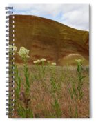 Painted Hills White Wildflowers Spiral Notebook