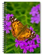 Painted Lady On Purple Verbena Spiral Notebook