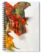 Painted Leaf Abstract 1 Spiral Notebook