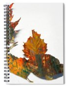 Painted Leaves Abstract 1 Spiral Notebook