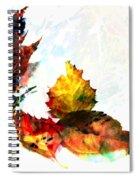 Painted Leaves Abstract 2 Spiral Notebook