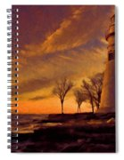 Painted Marblehead Lighthouse Spiral Notebook
