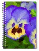 Painterly Pansies Spiral Notebook