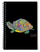 Painted Peace Turtle Too Spiral Notebook