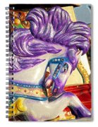 Painted Purple Pony Spiral Notebook