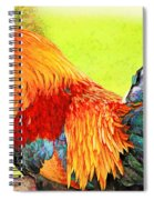 Painted Rooster Spiral Notebook