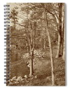 Painted Shore Camps In Sepia Spiral Notebook