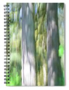 Painted Streaked Trees Spiral Notebook