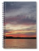 Painted Sunset On Gunflint Lake Spiral Notebook