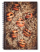 painted tangerines for Halloween Spiral Notebook