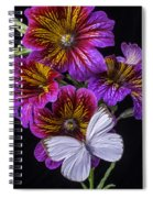 Painted Tongue With White Butterfly Spiral Notebook