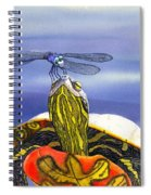 Painted Turtle And Dragonfly Spiral Notebook