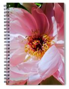 Painted Velvet Petals Spiral Notebook