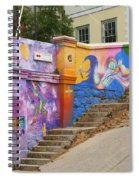 Painted Walls In Valparaiso Spiral Notebook