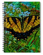 Painted Yellow Swallowtail Spiral Notebook