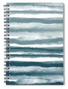 Painterly Beach Stripe 1- Art By Linda Woods Spiral Notebook