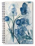 Painterly  Blues Spiral Notebook