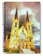 Painterly Church Spiral Notebook
