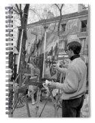 Painters In Montmartre, Paris, 1977 Spiral Notebook