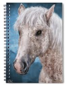 Painting Of A Brindle Horse With White Coat Spiral Notebook