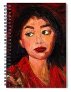 Painting Of A Dark Haired Girl Commissioned Art Spiral Notebook