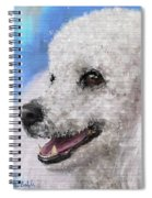 Painting Of A White Fluffy Poodle Smiling Spiral Notebook