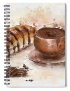Painting Of Chocolate Delights, Pastry And Hot Cocoa Spiral Notebook