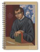 Painting Of Fr Balthasar Gracian Sj 180 Spiral Notebook