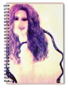 Painting Of Girl With Brown Hair Spiral Notebook