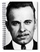 Painting Of John Dillinger Mug Shot Spiral Notebook