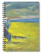 Painting Of Sheep On A Cliff Top Spiral Notebook