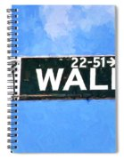 Painting Wall Street Spiral Notebook