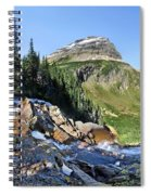 Paiota Falls - Glacier National Park Spiral Notebook