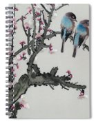 Pair Of Birds On A Cherry Branch Spiral Notebook