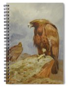 Pair Of Golden Eagles By Thorburn Spiral Notebook