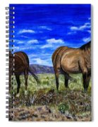 Pair Of Horses Painting Spiral Notebook