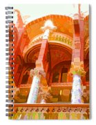Palau De La Musica Catalana Window Spiral Notebook