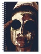 Pale Ghost With Black Eyes Thinking Up Bad Idea Spiral Notebook